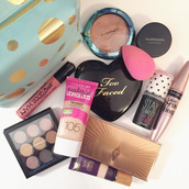 make-up,beauty blender,autumn make-up palette,covergirl,too faced,nyx,mascara,maybelline,bronzer,mac cosmetics