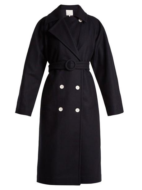 Tibi coat navy