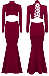 dress,dream it wear it,clothes,burgundy,red,red dress,burgundy dress,turtleneck,high neck,turtleneck dress,high neck dress,long sleeves,long sleeve dress,two piece dress set,mermaid prom dress,prom dress,long prom dress,mermaid skirt,lace up,lace up dress,long dress,party,party dress,sexy party dresses,sexy,sexy dress,party outfits,summer dress,summer outfits,spring dress,spring outfits,fall dress,fall outfits,winter dress,winter outfits,formal event outfit,formal outfits,formal dress,winter formal dress,classy,classy dress,elegant,elegant dress,cocktail,cocktail dress,girly,date outfit,birthday dress,holiday dress,holiday season,christmas,christmas dress,club dress,clubwear,new year's eve,dope,cool,trendy,beautiful,cute,gorgeous dress,black friday cyber monday,fashion,outfit,style