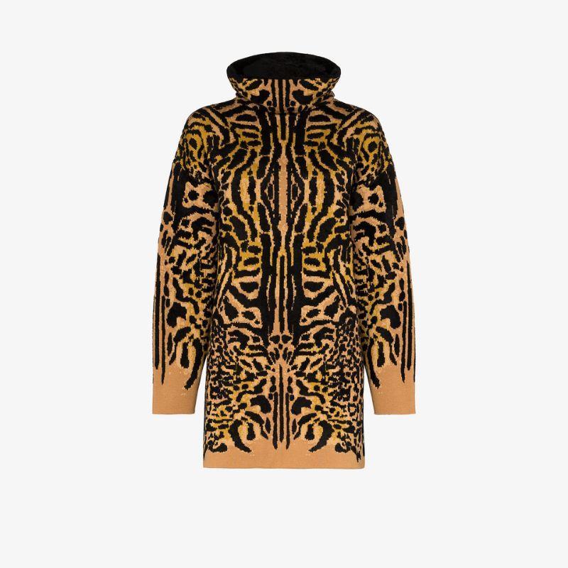 Givenchy cheetah jacquard turtleneck sweater