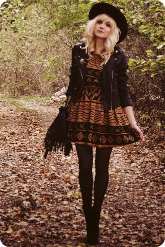 dress tribal print dress black skater dress