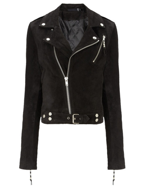 BLK DNM jacket cropped jacket cropped suede black