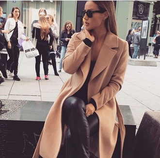 coat fashion swag dope killin it camel coat fall coat wool coat