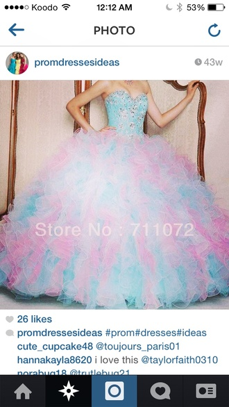 ball gown prom skirt cotton candy
