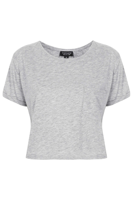 Roll Pocket Crop Tee - Crop Tops - Tops - Clothing