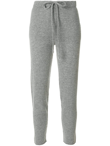 Fine Edge - classic sweatpants - women - Cashmere/Virgin Wool - M, Grey, Cashmere/Virgin Wool