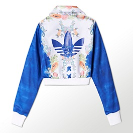 adidas Indigo Cropped Farm Pack Firebird Track Jacket | Shop Adidas