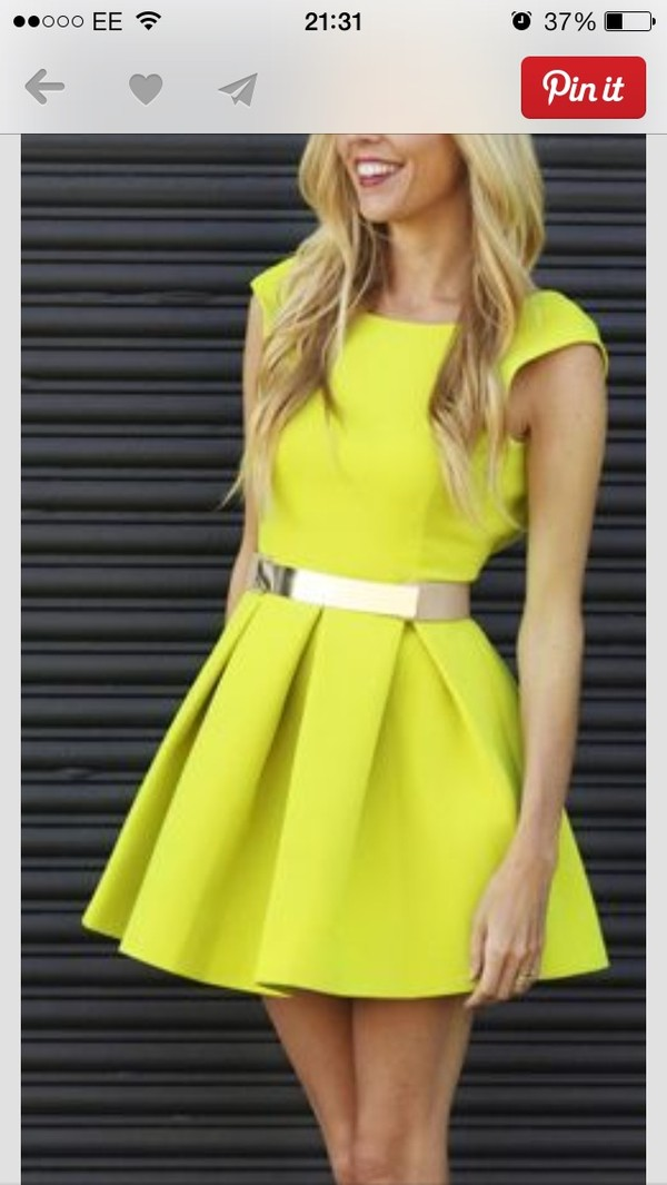 dress yellow dress yellow summer dress