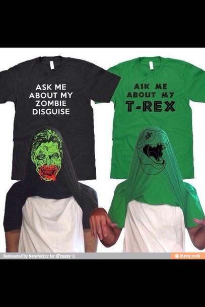 shirt dinosaur zombie