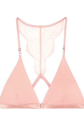 bra triangle pastel soft lace pink pastel pink underwear