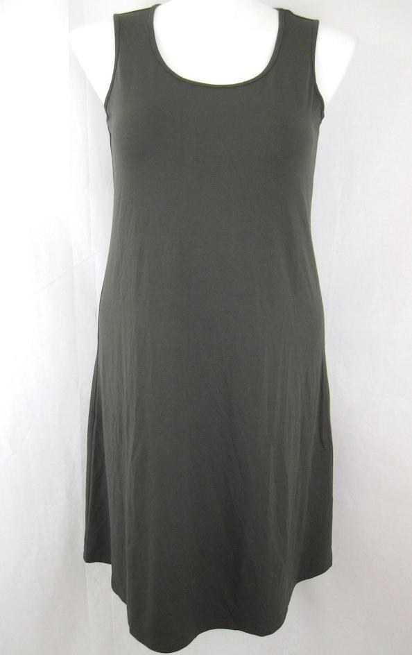 J. jill stylish pullover sleeveless scoop neck tank dress 95% rayon & 5% lycra