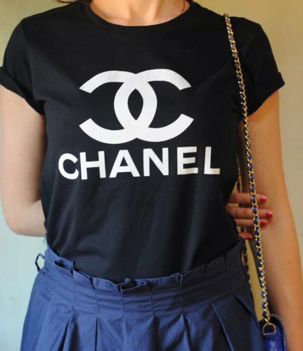 chanel chanel t-shirt chanel shirt t-shirt shirt vogue