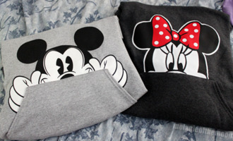 sweater minnie mouse mickey mouse hoodie clothes bow girl matching couples couple cute jacket couple sweaters minnie and mickey disney matching set