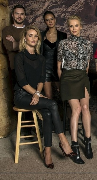 pants top leather leather pants rosie huntington-whiteley