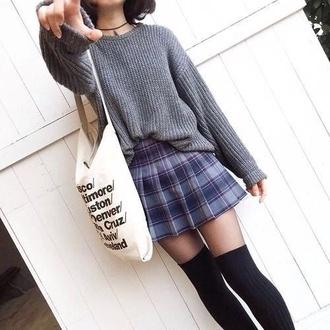 cardigan sweater grey sweater korean fashion japanese sweater japanese shirts asian skirt flannel flannel skrirt