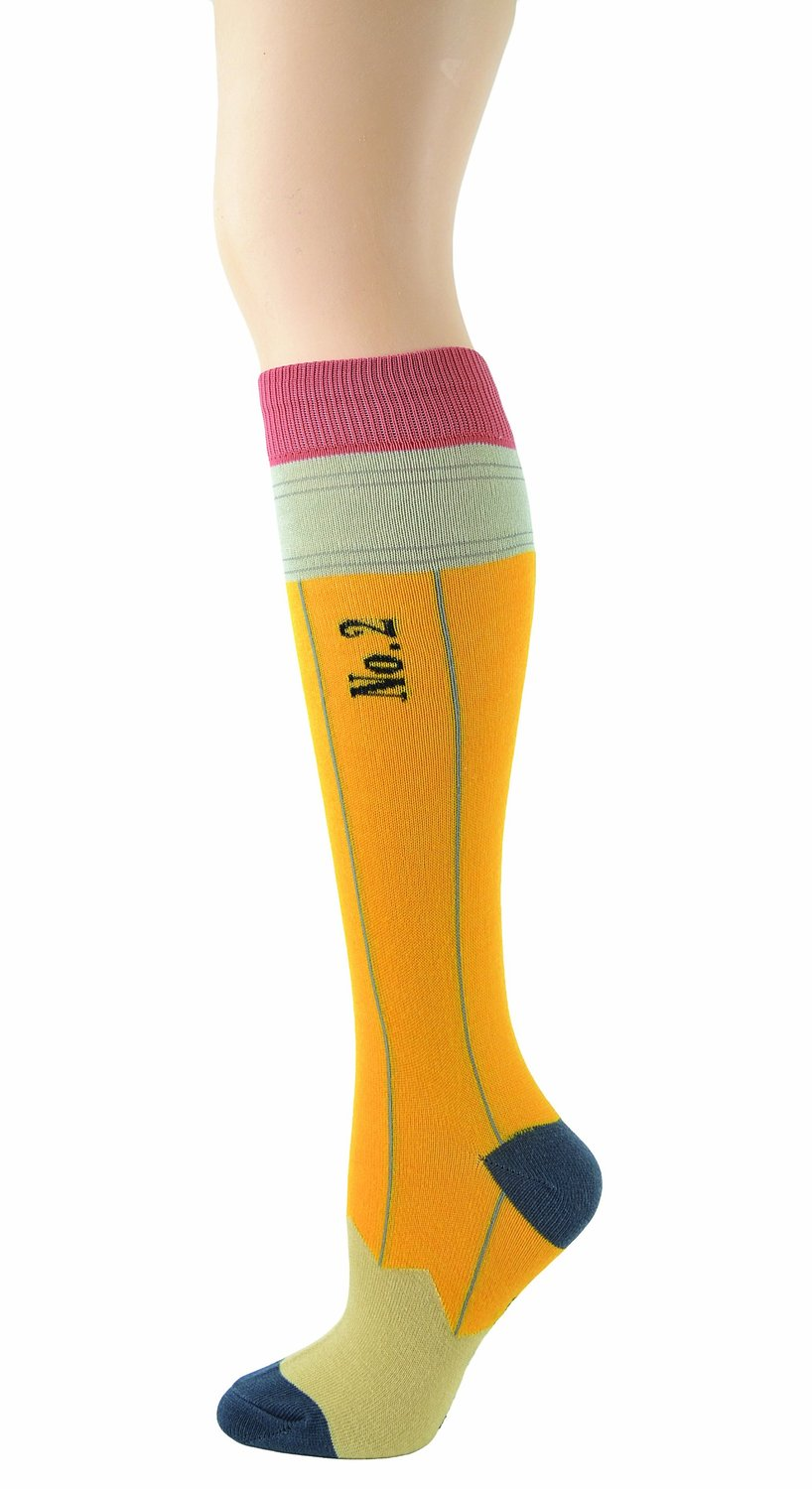 Amazon.com: Foot Traffic Women's Pencil Knee High Socks Size 9-11 Yellow/Black: Clothing