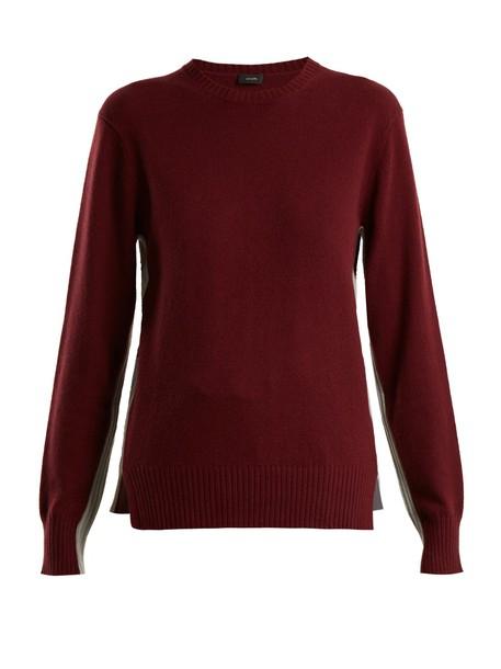 Joseph sweater burgundy