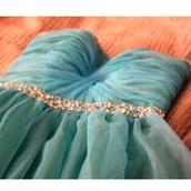 dress,turquoise,beadinf,beading,sparkle,prom