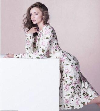 dress miranda kerr floral floral dress midi dress lace dress