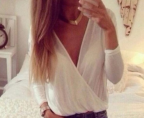 Draped crossover sheer shirt from tumblr fashion on storenvy
