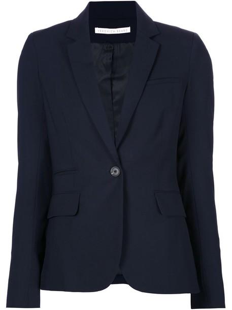 Veronica Beard blazer jacket women spandex blue wool