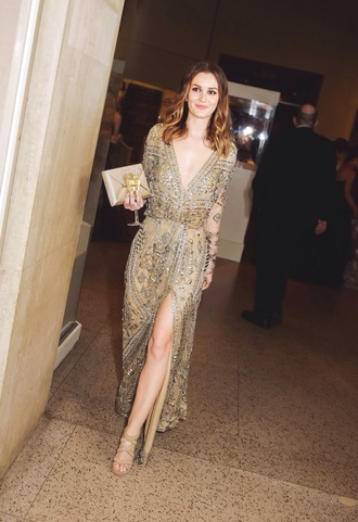 dress leighton meester gossip girl gold sequin dress prom dress