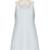 Organza-trimmed silk-cady shift dress