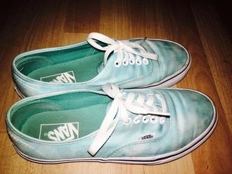 shoes vans vans skate shoes cute tie dye baby blue clouds sneakers
