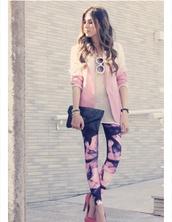 jacket,boyfriend blazer,pink,ombre