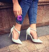 shoes,heels,blue shoes,high heels,medium heels,fashion,blue,boho dress,jeans,strappy heels,avheels,suede shoes,pointed toe pumps,pumps,stilettos,sky blue