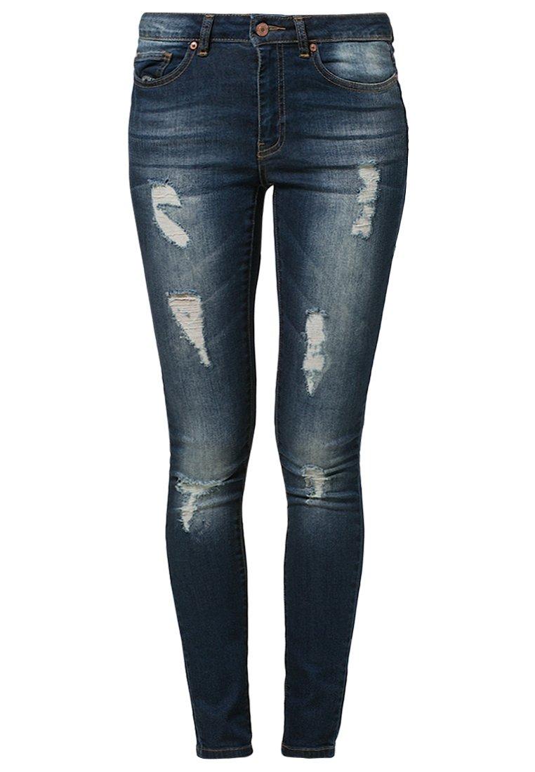 Noisy May LUCY - Jeans Slim Fit - dark blue denim - Zalando.de