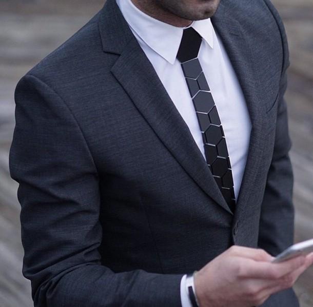 jacket charcoal suit grey coat black jacket shirt jewels