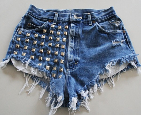 shorts studded studs runwaydreamz High waisted shorts purple studded shorts ombre cute hipster indie tumblr denim glitter