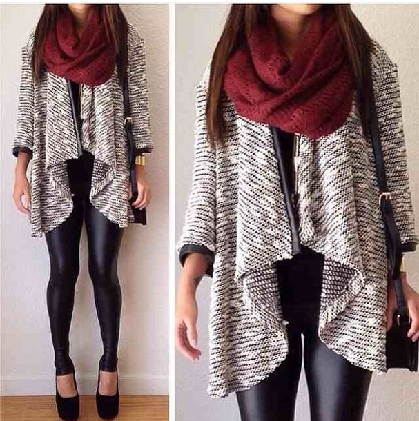 Sweater: grey cardigan, knitted cardigan, waterfall cardigan ...