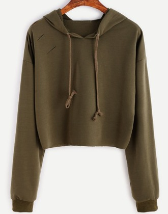 sweater olive green khaki crop cropped cropped sweater hoodie crop tops cropped hoodie