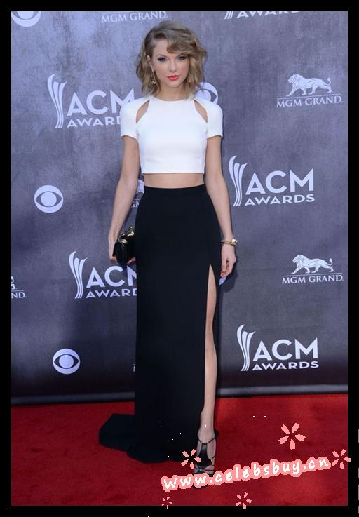 Taylor swift top&skirt acm awards 2014_acm awards_prom dress(499)_celebrity dress online shopping prom dress