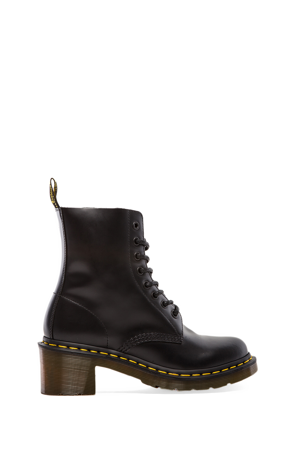 Dr. Martens Clemency 8-Tie Boot in Black | REVOLVE