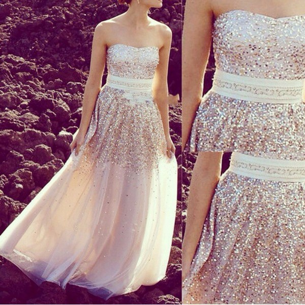 glitter gorgeous strapless
