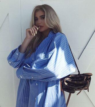 shirt oversized oversized shirt kylie jenner backpack instagram