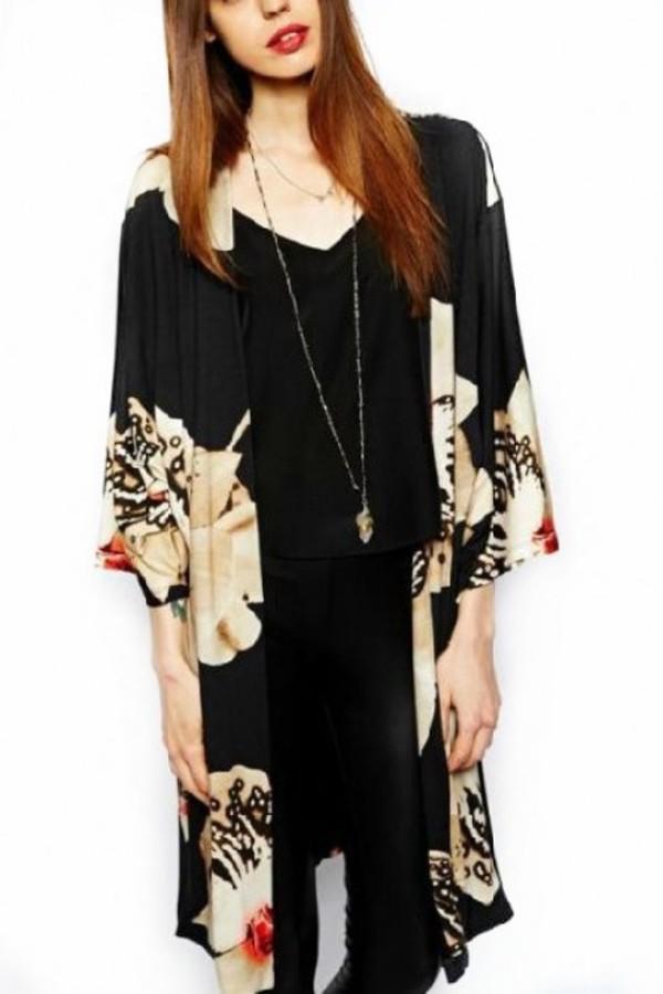 cardigan kcloth floral cardigan black cardigan blazer