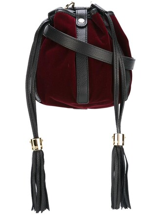 women bag shoulder bag velvet red