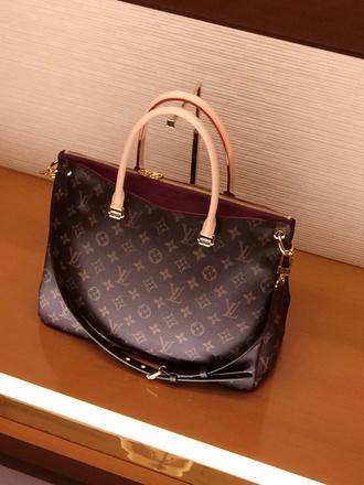 bag louis vuitton paris pink lining women leather bag beautiful bags