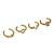 LOVE GOLD MIDI RINGS SET – HolyPink