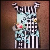 dress,stripes,mini,party,print,clothes,off the shoulder