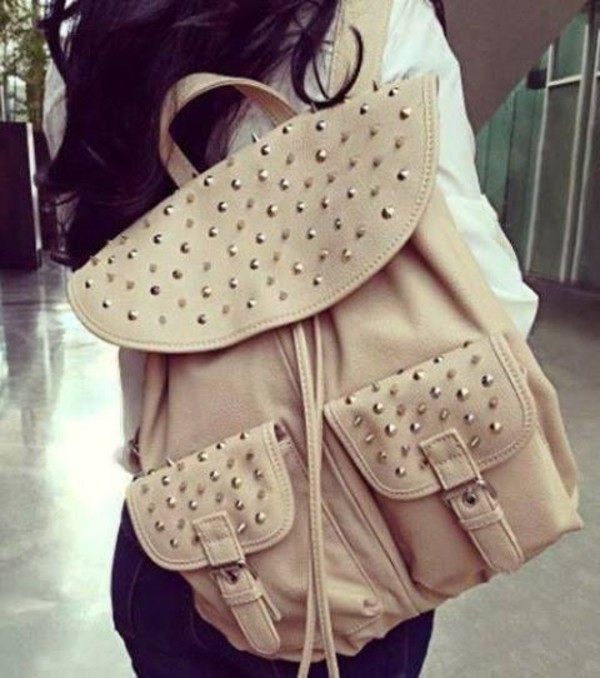 bag school bag swag fashion girl fvkin studs studded bag