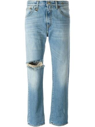 jeans boyfriend jeans gun women spandex boyfriend leather cotton blue