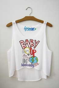 Baby you light up my world like nobody else Fresh-Tops Crop Top - Fresh-tops.com