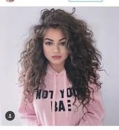 sweater,pink,Not your bae,hoodie,sweatshirt,jacket