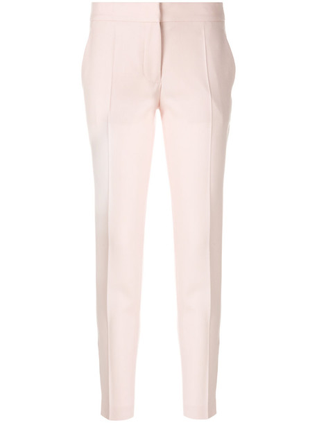 Stella McCartney women fit wool purple pink pants
