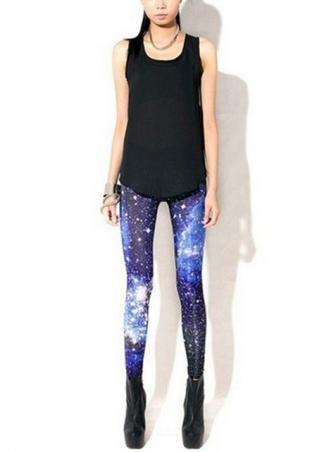 Women's blue star leggings online